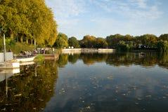 Озеро nster ¼ MÃ, Германии стоковое изображение rf
