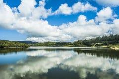 Озеро Nuwara Eliya Шри-Ланка Kande Ela стоковая фотография rf