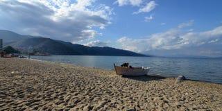 Озеро Ohrid, Албания Стоковые Изображения RF