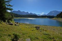 Озеро Palu - Valmalenco, Valtellina, Италия Стоковые Фотографии RF