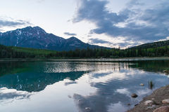 озеро patricia Канады стоковое изображение rf