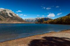 Озеро Pearson/охраняемая природная территория Moana Rua расположенная в Craigieburn Forest Park в области Кентербери, южном остро Стоковое Изображение