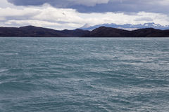 Озеро Pehoe на Torres del paine Стоковые Фотографии RF