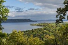Озеро Pepin река Миссисипи сценарное Стоковые Изображения
