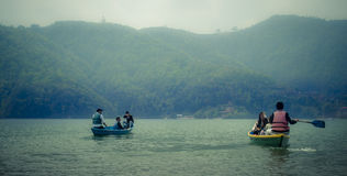 Озеро Phewa - Phokara Стоковое Изображение