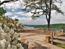 Озеро Philpott обозревает в горах голубого Риджа стоковые изображения