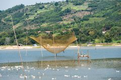 Озеро Phu Yen, Tuy Hoa, Вьетнам Стоковое Изображение RF