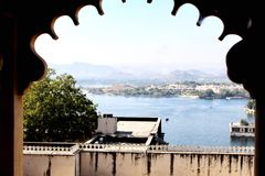 Озеро Pichhola, Udaipur, Индия стоковые фото