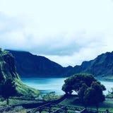 Озеро Pinatubo Creater горы Стоковое Фото