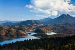 Озеро Plastiras Стоковое фото RF