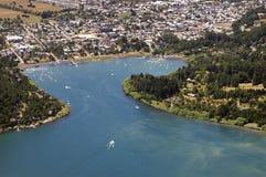 Озеро Pucon и Villarrica, Чили Стоковые Изображения RF