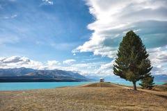 Озеро Pukaki Стоковое фото RF