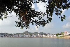 озеро pushkar стоковое фото