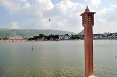 озеро pushkar стоковые изображения rf