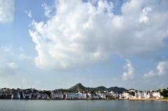 озеро pushkar стоковое изображение