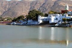 озеро pushkar стоковые фотографии rf