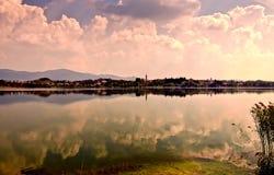 Озеро Pusiano Стоковое фото RF