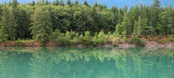 Озеро Riffe в штате Вашингтоне Стоковые Изображения RF