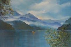 Озеро Ritsa горы Стоковая Фотография