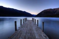 Озеро Rotoiti, Новая Зеландия Стоковое Изображение RF