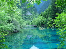 озеро s jiuzhaigou Стоковое Изображение RF