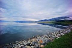Озеро Sailimu стоковое изображение