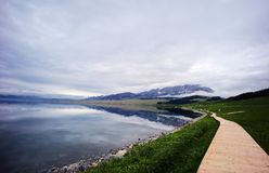 Озеро Sailimu стоковая фотография