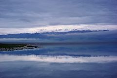 Озеро Sailimu стоковые изображения rf