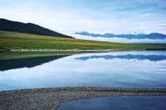 Озеро Sailimu стоковые фотографии rf