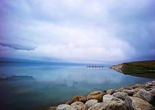 Озеро Sailimu стоковое изображение rf