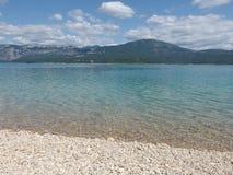 Озеро Sainte croix du verdon, Провансаль стоковые фотографии rf