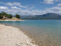 Озеро Sainte croix du verdon, Провансаль стоковые изображения rf