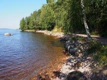 озеро siljan Швеция Стоковая Фотография