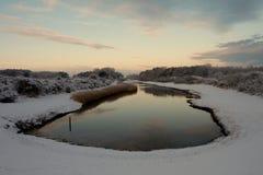 Озеро Snowy Стоковая Фотография
