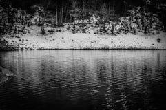Озеро Snowy Стоковая Фотография RF