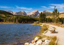 Озеро Sprague, национальный парк скалистой горы стоковое изображение rf