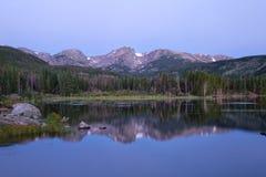 Озеро Sprague на национальном парке скалистой горы Стоковые Фотографии RF