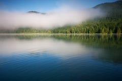 Озеро St. Anna в вулканическом кратере в Трансильвании стоковая фотография rf