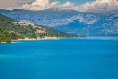 Озеро St Croix, Les Ущелье du Verdon, Провансаль, Франция стоковое фото rf