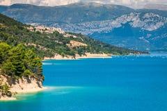 Озеро St Croix, Les Ущелье du Verdon, Провансаль, Франция стоковые изображения