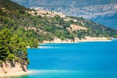 Озеро St Croix, Les Ущелье du Verdon, Провансаль, Франция стоковое изображение rf