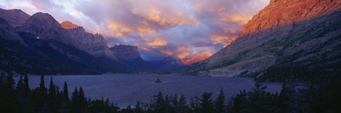 Озеро St Mary, национальный парк ледника, Монтана Стоковое Изображение RF