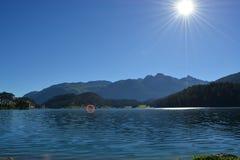 Озеро St Moritz Стоковое фото RF