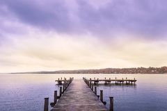 Озеро Starnberg в Германии Стоковые Изображения RF