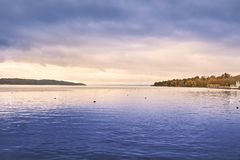 Озеро Starnberg в Германии Стоковое Изображение RF