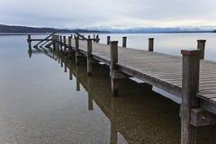 Озеро Starnberger в Feldafing Германия Баварии Стоковая Фотография