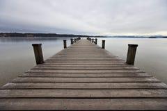 Озеро Starnberger в Feldafing Германия Баварии Стоковое Изображение