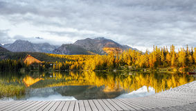 Озеро Strbske Pleso, высокое Tatras, Словакия стоковое фото