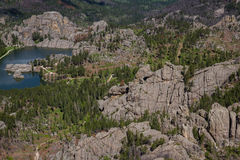 Озеро Sylvan, вид с воздуха Стоковое фото RF