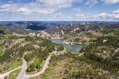 Озеро Sylvan, вид с воздуха Стоковая Фотография